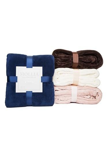 Mollia Soft Touch Çift Kişilik Battaniye Mavi